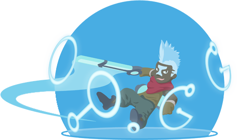 OP.GG Logo (에코, 시간을 달리는 소년)