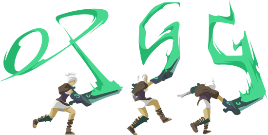 OP.GG Logo (Riven, the Exile)