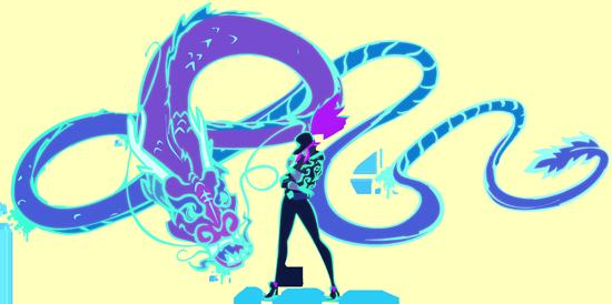 OP.GG Logo (K/DA Akali)
