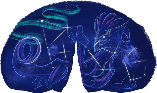 OP.GG Logo (Aurelion Sol and Mount Targon)